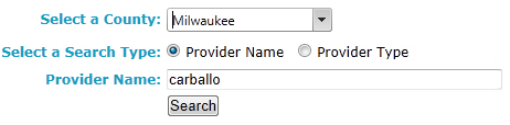 Provider Search by Name