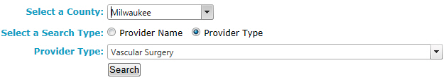 Provider Search by Provider Type